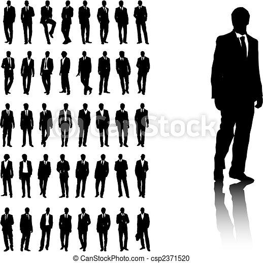 uomini, affari - csp2371520