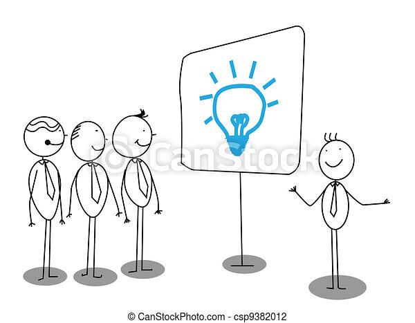 uomo affari, presentazione - csp9382012