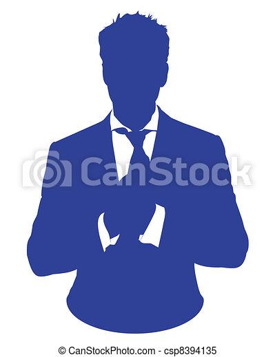 uomo, avatar, causa affari - csp8394135