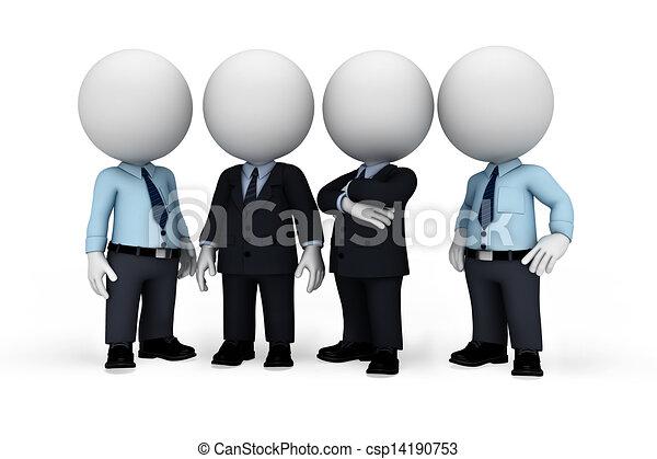 uomo, bianco, 3d, persone affari - csp14190753