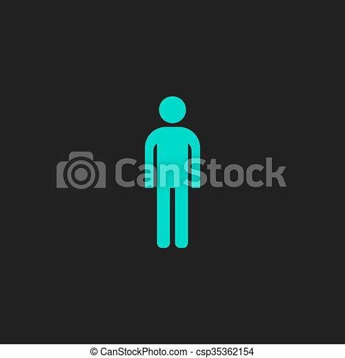 uomo, vector., icon. - csp35362154