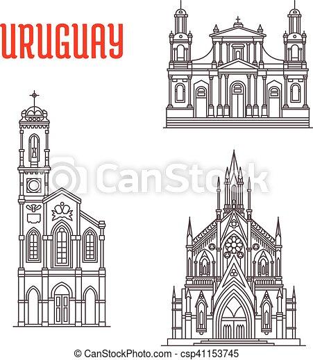 uruguay, famoso, costruzioni storiche, architettonico - csp41153745