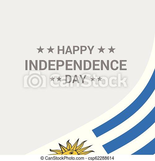 uruguay, tipografico, bandiera, vettore, disegno, giorno, indipendenza - csp62288614