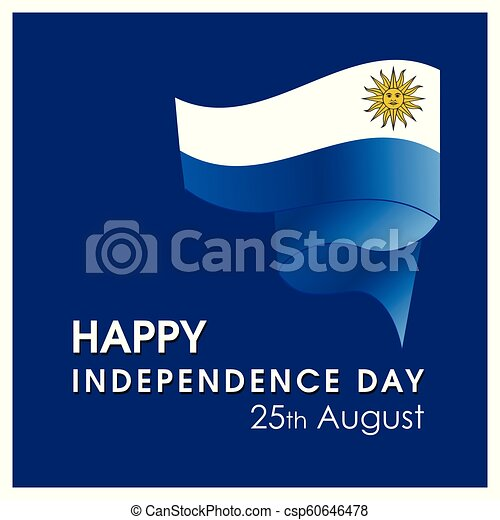 uruguay, vettore, disegno, giorno indipendenza, scheda - csp60646478