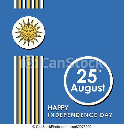 uruguay, vettore, disegno, giorno indipendenza, scheda - csp62076200