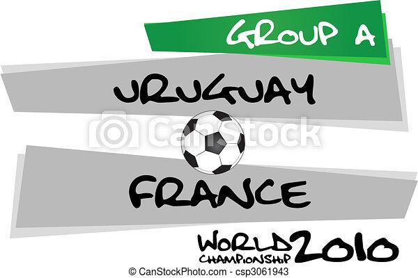 uruguay, vs., francia - csp3061943