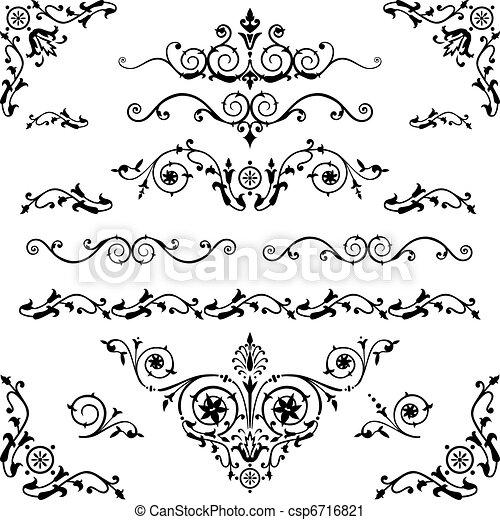 vendemmia, elementi, disegno - csp6716821