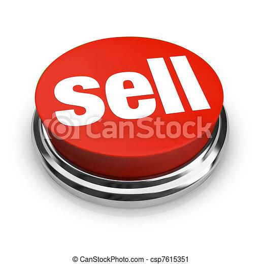 vendere, essere, esso, beni, parola, affari, pulsante avvio, offerta, esso, vendita, come, clienti, lattina, facile, servizi, rappresentare, o, rosso - csp7615351