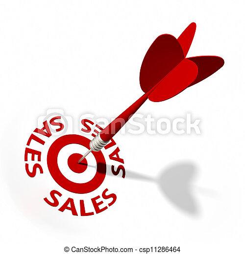 vendite, bersaglio - csp11286464