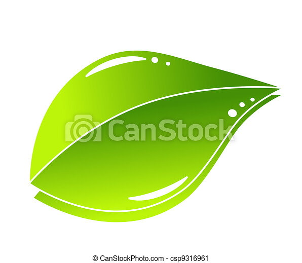 verde, concetto, foglia, natura - csp9316961
