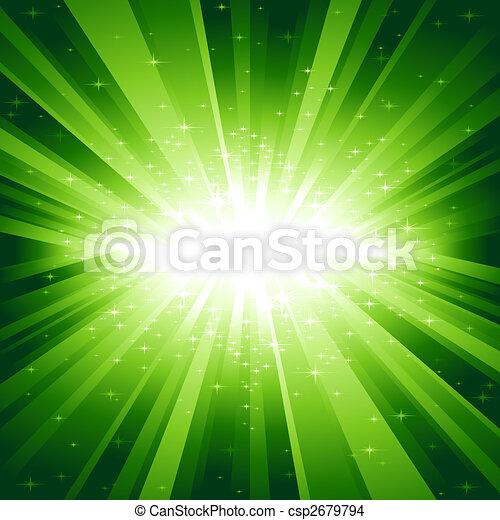 verde leggero, stelle, scoppio - csp2679794