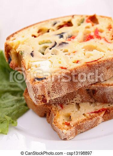 verdura, bread - csp13198897