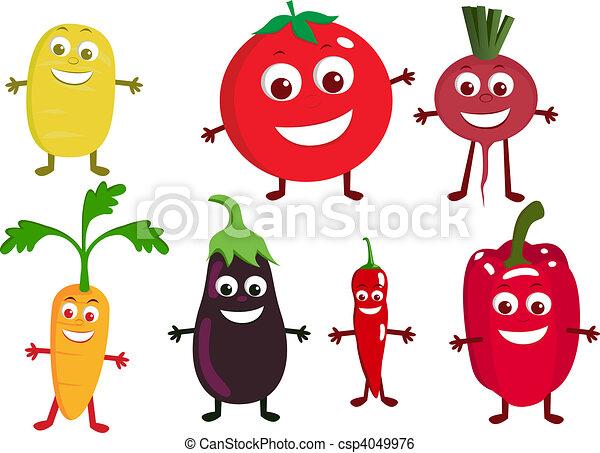 verdura, carattere, cartone animato - csp4049976