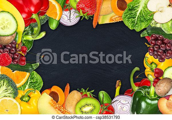 verdura, cornice, frutta - csp38531793