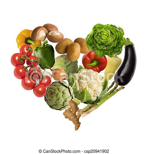 verdura, cuore - csp20941902