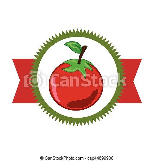 verdura, fresco, prodotto, sigillo - csp44899906