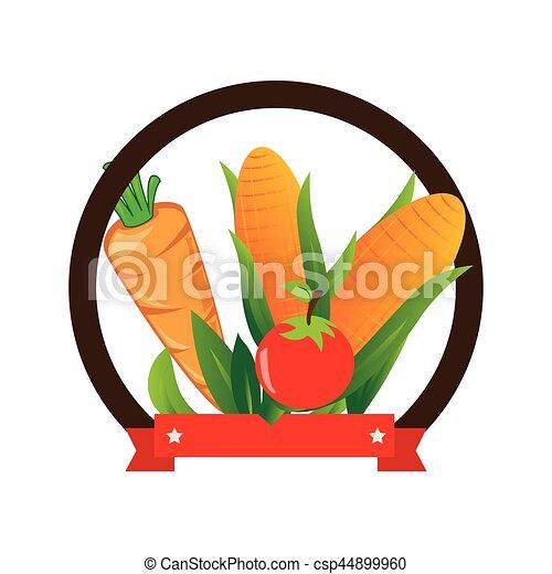 verdura, fresco, prodotto, sigillo - csp44899960