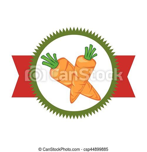 verdura, fresco, prodotto, sigillo - csp44899885