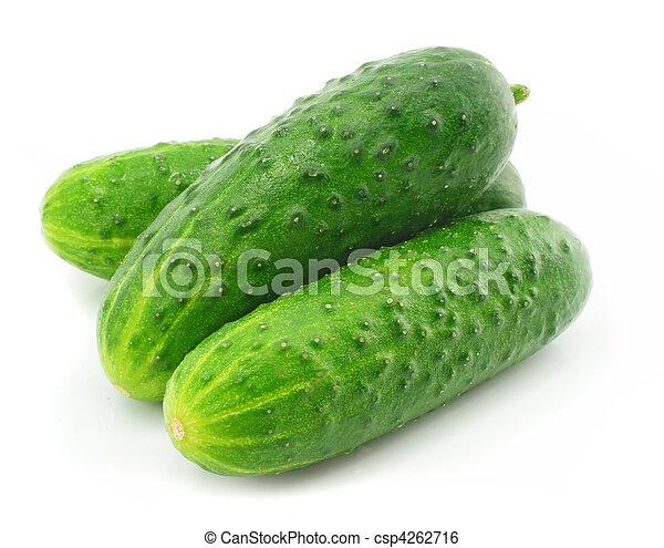 verdura, verde, frutta, cetriolo, isolato - csp4262716