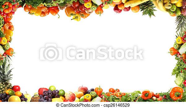 verdure fresche, fractal, saporito - csp26146529