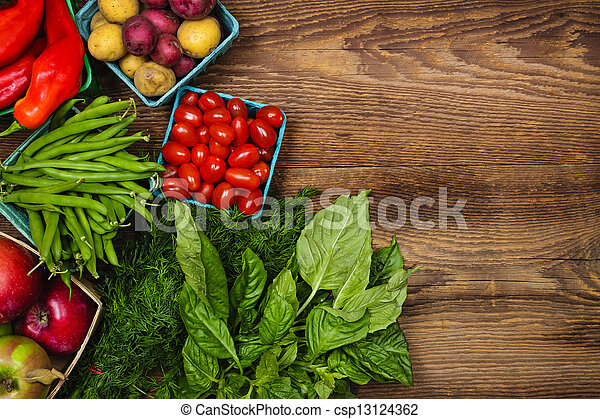 verdure fresche, mercato, frutte - csp13124362
