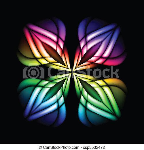 vetro, macchia, fiore - csp5532472
