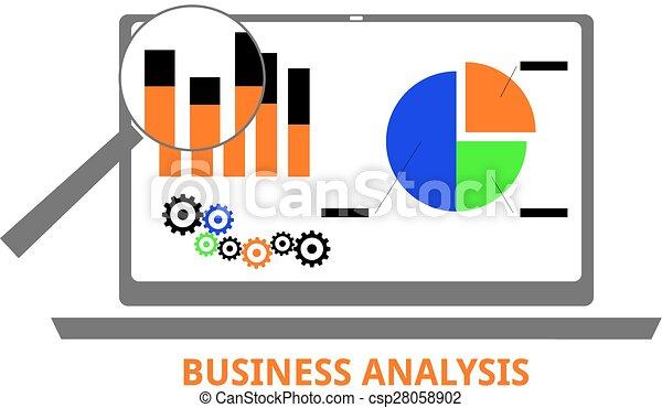 vettore, -, affari, analisi - csp28058902