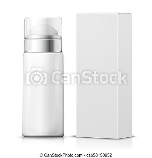 vettore, box., deodorante, realistico, carta, 3d - csp58150952