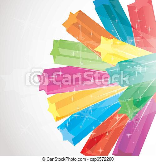 vettore, colorito, illustrazione, scintilla, stelle, fondo, 3d - csp6572260