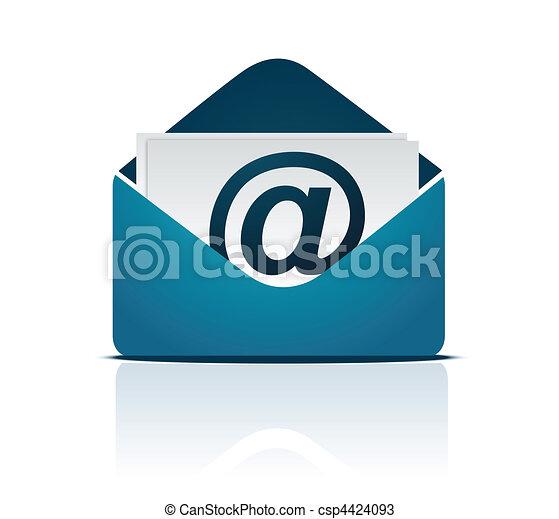 vettore, email, /, segno - csp4424093