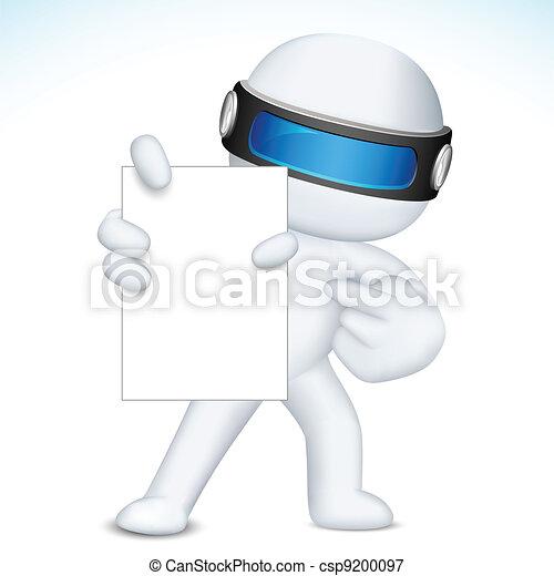 vettore, esposizione, scheda, vuoto, 3d, affari, nan - csp9200097