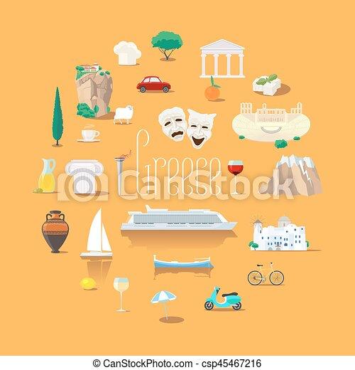 vettore, greco, limiti, set, icone - csp45467216