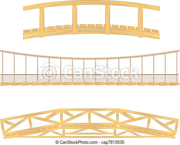 vettore, legno, appendere, ponte - csp7813535