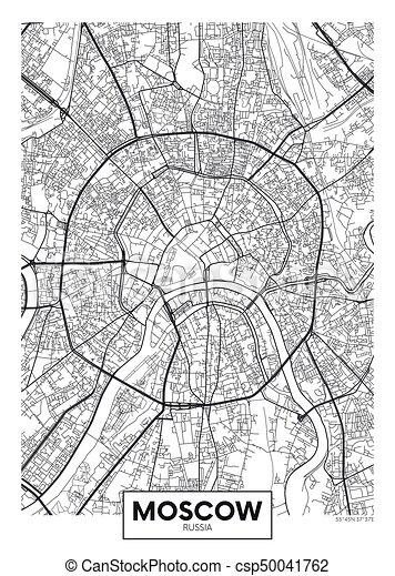 vettore, mosca, mappa urbana, manifesto - csp50041762