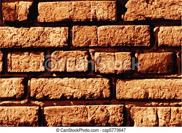vettore, parete, mattone - csp5773647