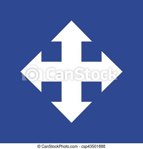 vettore, quattro, icona, frecce, directions., eps10 - csp43501888