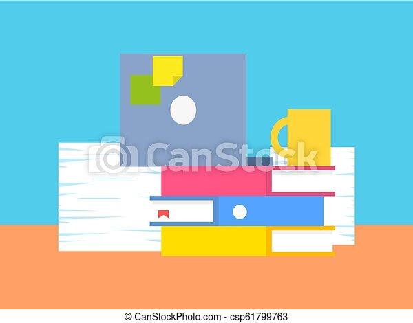 vettore, roba, illustrazione, ufficio, collezione - csp61799763
