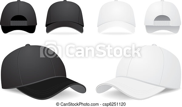 vettore, set, berretto, baseball - csp6251120