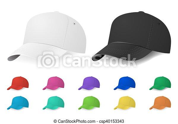 vettore, set, berretto, baseball - csp40153343