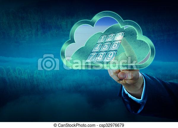 via, porta, tastiera, serratura, virtuale, vaulted, sbloccando - csp32976679