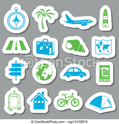 viaggiare, adesivi - csp13102815