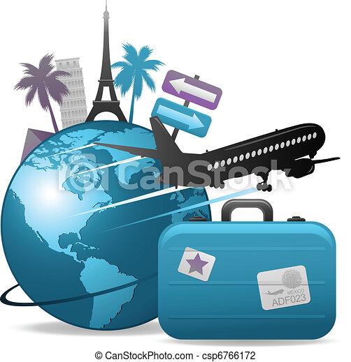 viaggiare, concetto, fondo - csp6766172