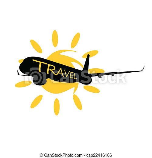 viaggiare, vettore, aeroplano - csp22416166