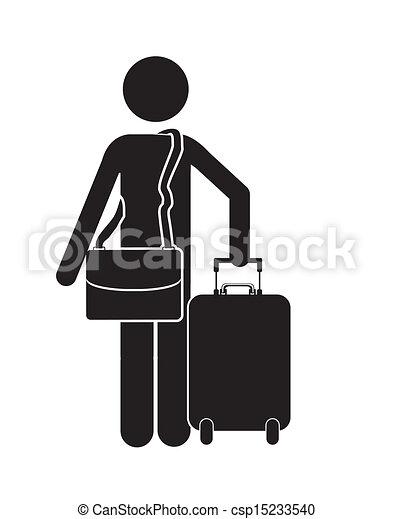 viaggiatore, disegno - csp15233540