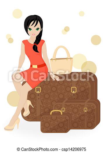 viaggiatore, ragazza - csp14206975