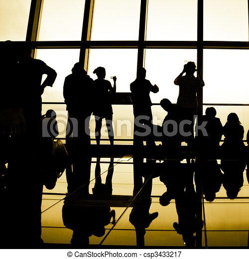 viaggiatore, silhouette - csp3433217