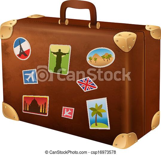 viaggiatore, valigia - csp16973578