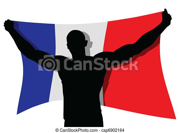 vincitore, francia - csp6902164