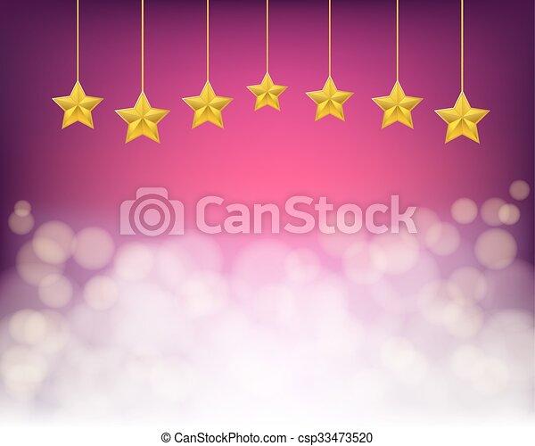viola, dorato, corde, fondo, stelle - csp33473520
