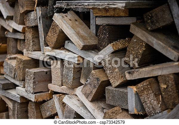 vista., uno, work., accatastato, lato, one., legno, costruzione, assi - csp73342579